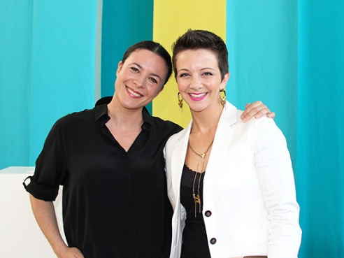 That's Garance Doré. And me. (!!!!!!!!)